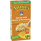 Annie's Spirals With Butter and Parmesan Macaroni and Cheese, 5.25 oz (Pack of...