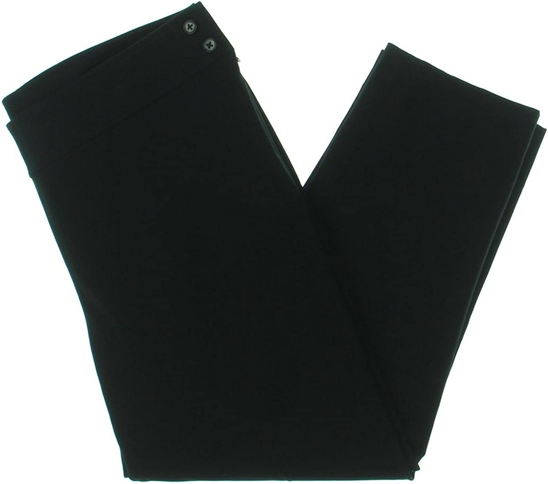 Lauren Ralph Lauren Womens Plus Stretch Slim Fit Crop Leggings Black 20W