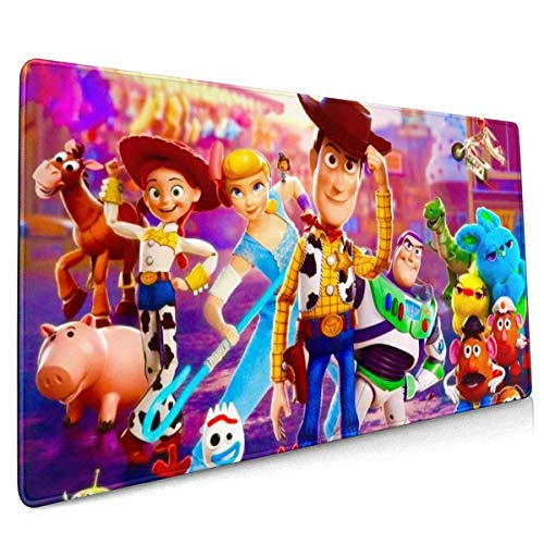 Cartoon Toy Story Gaming Mouse Pad Large Custom Mousepad Pads for Laptop Computer,Desk Cover Computers Keyboard Stitched Edges Office Ideal Mouse Mat 30x80cm-MPG
