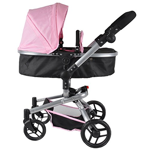 Bandits & Angels Puppenwagen Black Angel Softpink 2-in1