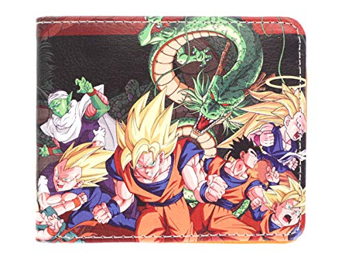 CoolChange Cartera con Bolsillo para Monedas de Dragon Ball, Tema: B
