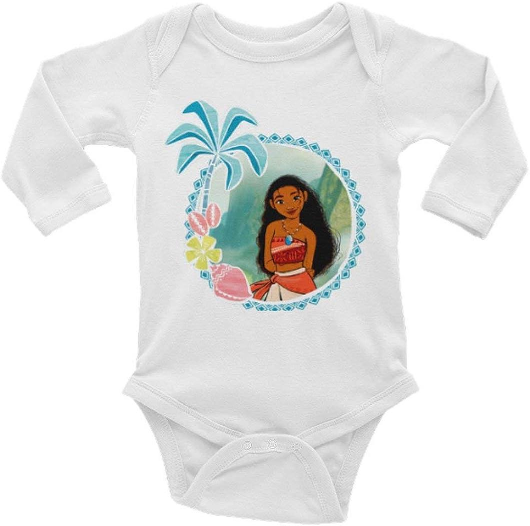 Baby Deluxe Bodysuit Max 55% OFF Moana Long Sleeve Onesie Months 0-24 Unisex