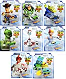 Hot Wheels Toy Story 4 - Complete Set of 8 Collectible Character Cars - Woody, Buzz Lightyear, Alien, Rex, Forky, Bo Peep, Duke Caboom, Ducky & Bunny