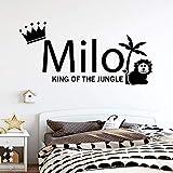 mlpnko Creativo Animal Nombre Personalizado Autoadhesivo Etiqueta de la Pared Impermeable Etiqueta de la Pared decoración del hogar Etiqueta 42x87cm