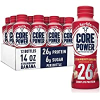 12-Pack Core Power fairlife Core Power High Protein Milk Shake (Strawberry banana, 14 Fl Oz)