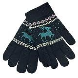 LEXUPE Toddler Baby Cute Thicken Christmas Fawn Girls Boys of Winter Warm Gloves (Schwarz,Free Size)