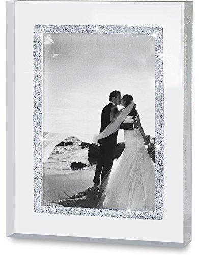 My IMPLEXIONS Glitzernder Bilderrahmen veredelt mit 8.000 Swarovski Kristallen für Bilder 9 x 13 cm/Fotorahmen für Hochzeitsfotos, Partnerfotos