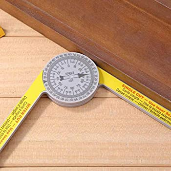 7/'/' Plastic Protractor Single-cut Miter Saw Inner Scales Portable Angle Ruler