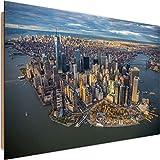 Feeby Cuadro Imagen XXL Manhattan Impresión de Arte New York Ciudad Multicolor 120x80 cm