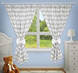 Luxury Decorative Curtains for Baby Room Matching with Our Nursery Bedding Sets (Elephants Grey)