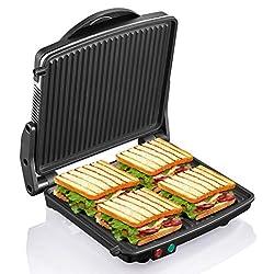 "powerful Panini Press Grill, Yabano Gourmet Sandwich Maker 11 ""x 9.8"" Non-Stick Plate, 180 Open …"
