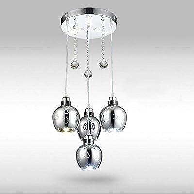Lámpara de metal y circular de madera colgante cinco luces ...
