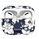 KINGXBAR AirPods Pro Case Cover Floral TPU Protective Skins with Bling Crystals from Austria for Apple AirPods Pro, Vintage Lily Flower Design with Keychain and AirPods 3 Accessories for Girls Women