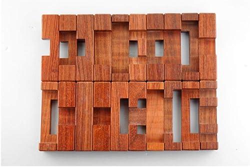 LZH Juguetes De Bloques De Construcción, Serie De Madera De Caoba 20 A Través De Orificios para Ni  Juguetes Educativos para Ancianos