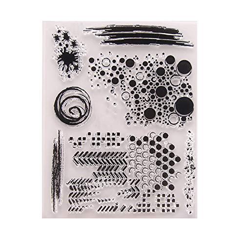AIUIN Sellos Scrapbooking Clear Stamp Punto Circular Sello Transparente Hoja De Sello De Silicona para álbum De Tarjetas De Arte De Scrapbook DIY álbum