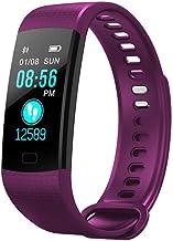 Smart Bracelet_Smart Armband Monitor Tracker Fitness Tracker Smart Polsband Waterdichte Smart Watch Stappenteller Zwart Paars