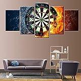 5 HD Impression fléchettes Flamme Toile Peinture Affiche Mur Peintre Salon décoration Salon ou Petite pièce 10x15cmx2 10x20cmx2...
