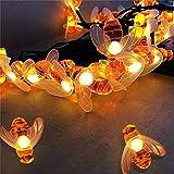 Cadena de luces solares para exteriores, cadena de luces de 9 m,...