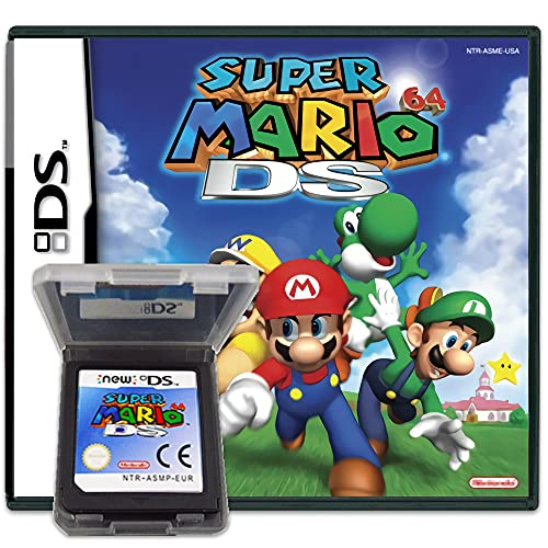 New Super Mario 64 DS Game Card Cartridge Compatible with NDS/NDS/NDSL/NDSi/3DS/2DS (Reproduction Version)
