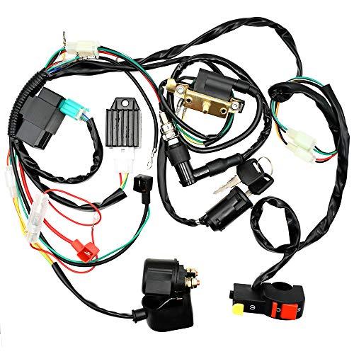 Royitay Complete Electrics Start Engine CDI Ignition Coil Wiring Loom Harness Spark Plug Kits For 50cc 110cc 125cc ATV Buggy Quad Dirt Bike