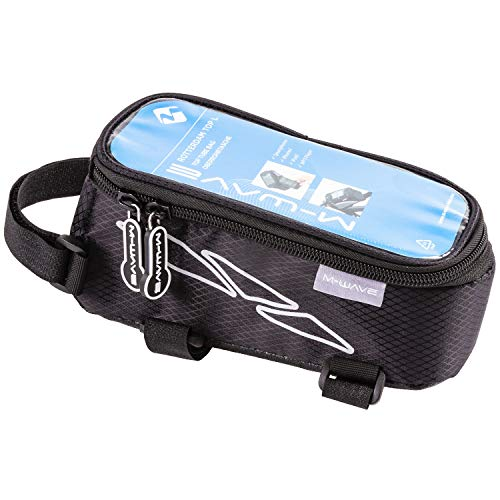 M-Wave Unisex - volwassenen Rotterdam Top XL bovenbuis tas voor smartphone, zwart, 18,5 x 9,5 x 8,5 cm (l x b x h)