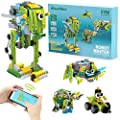 WOOLIKE Robot Kit 100+ in 1 Robot Toys,STEM Educational Coding Science Kits for Kids ,APP Remote Control Building Robot Kit for Boys and Girls Age 6+ Years Old
