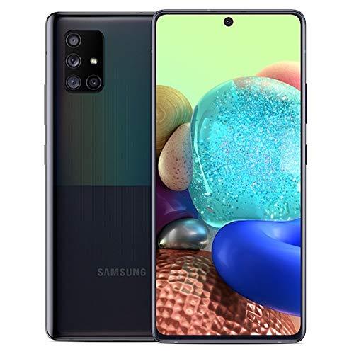 "Samsung Galaxy A71 5G (128GB, 6GB) 6.7"" AMOLED+, Snapdragon 765G, 4500mAh Battery, Global 5G Volte GSM AT&T Unlocked (T-Mobile, Metro, Straight Talk) A716U (Prism Cube Black)(Renewed)"