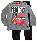 Cars Disney 3 Kollektion 2017 Schlafanzug 92 98 104 110 116 122 128 Jungen Pyjama Neu Lang Lightning McQueen Grau (98-104, Grau)