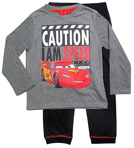 Cars Disney 3 Kollektion 2017 Schlafanzug 92 98 104 110 116 122 128 Jungen Pyjama Neu Lang Lightning McQueen Grau (92-98, Grau)