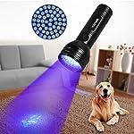 YOUTHINK Pet Urine Detector Light, 51 LED UV Black Light Flashlight Portable Dog Cat Urine Carpet Detector Super Bright UV Light, for Pet Stain, Minerals, Automotive Leak Detection 13
