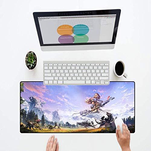 Mouse Pad Anime Game Mouse Pad Large Gaming Mousepad Gamer Keyboard Player para Horizon Zero DawnMouse pad Gioco anime Mouse pad Gioco di grandi dimensioni Mousepad Gamer Keyboard Player per Horizon Z