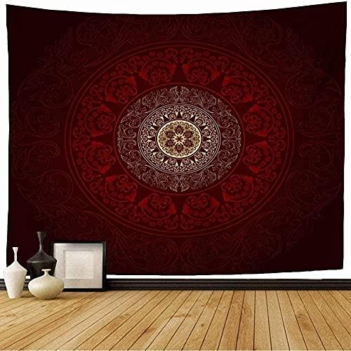 Tapiz Tapiz De Pared Tapices De Pared Seda Moda Rojo Vintage Floral Abstracto Clásico Remolino Antiguo Hermoso Borde Certificado Antiguo 150*200Cm