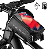 ROCKBROS Bike Phone Front Frame Bag Waterproof Top Tube Bike Bag Touch Screen Cycling Bicycle Phone Mount Pack Bike...
