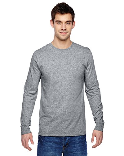 Fruit of the Loom 4.7 oz., 100% Sofspun Cotton Jersey Long-Sleeve T-Shirt, Large, ATHLETIC HEATHER
