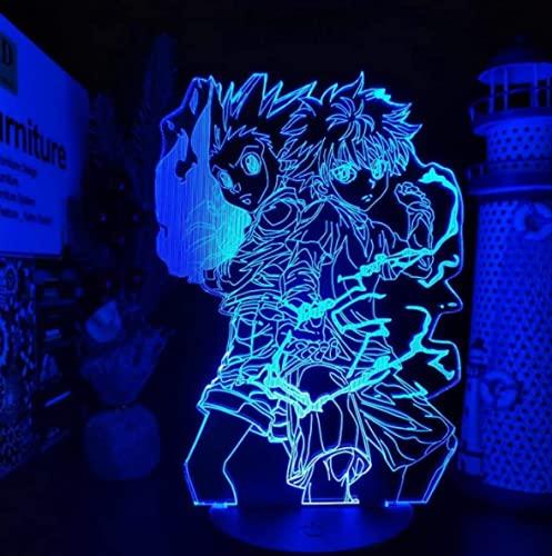 N\C 3D3D animación noche luz creativa animación dibujos animados colorido mesita de noche lámpara de color cambiante lámpara de mesa