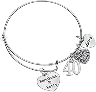Infinity Collection 40th Birthday Gifts for Women, 40th Birthday Expandable Charm Bracelet, 40th Birthday Ideas, Gift for Her