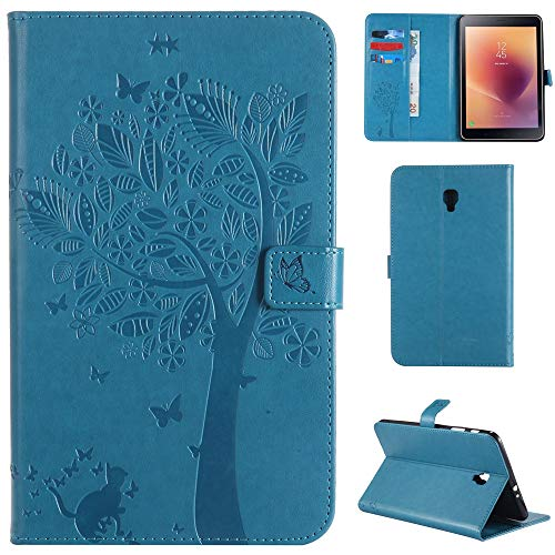RZL PAD & TAB cases For Samsung Galaxy Tab A 8.0 SM-T380 T385 2017, Embossing PU Leather Flip Stand Cover Card Slot Tablet Case For Samsung Galaxy Tab A 8.0 SM-T380 T385 (Color : Blue)