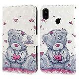 Ailisi Samsung Galaxy A40 Case, 3D visual Cute Love heart