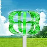 Wind Power Turbines Generator 4000W 12/24/48V 5 Blades with Controller Generator Lantern Wind Turbines Vertical Axis,12V