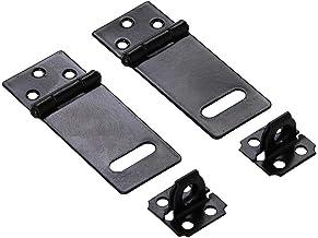 2 Sets Van De Deur Veiligheid Sloten, Black Metal Hangslot HASP En Nieten Set 7 X 2.7cm / 2.7 × 1.1inch