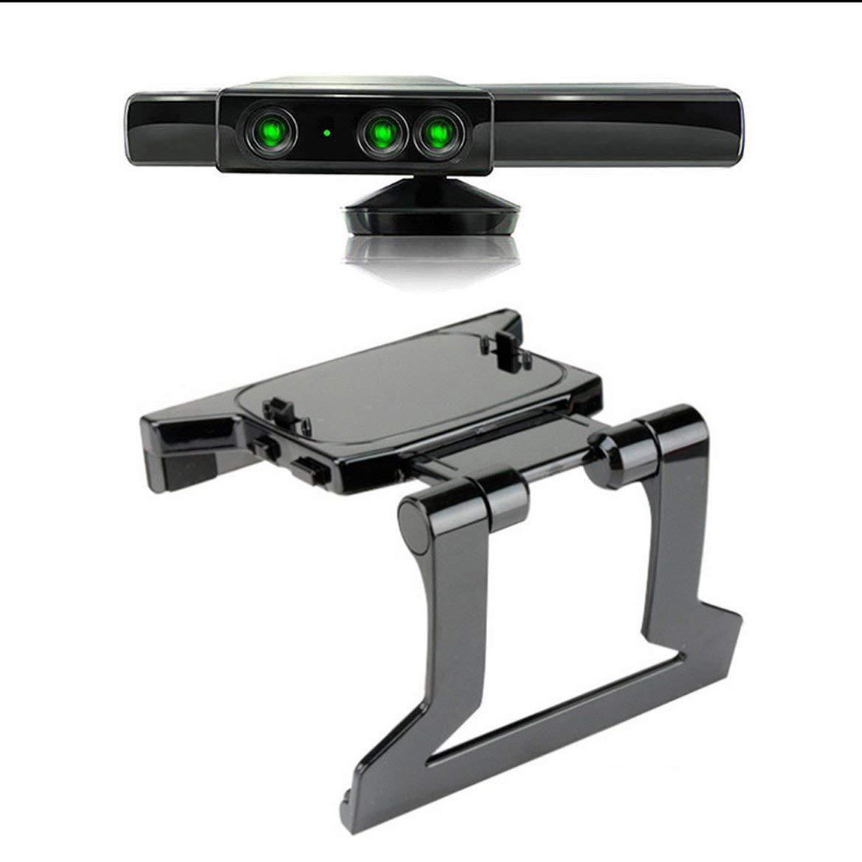 Utilisation durable Plastique Plastique TV Clip Pince Support de montage Support de montage pour support Capteur Kinect Microsoft Xbox 360 (Noir): Amazon.es: Iluminación