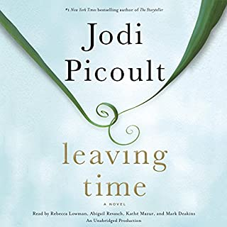 Leaving Time     A Novel              Written by:                                                                                                                                 Jodi Picoult                               Narrated by:                                                                                                                                 Rebecca Lowman,                                                                                        Abigail Revasch,                                                                                        Kathe Mazur,                   and others                 Length: 15 hrs and 11 mins     45 ratings     Overall 4.7
