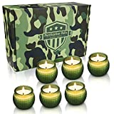 Yinuo Mirror Scented Candle Gift Set, Hand Grenade Shaped Natural Soy Wax 2.5 Oz Portable ...