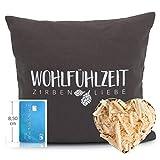 Herbalind Zirbenkissen Graz mit Reißverschluss hochwertige Zirbenflocken - Bezug aus 100% Baumwolle...
