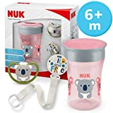 NUK Magic Cup & Set, Magic Cup Trinklernbecher Space Schnuller & Schnullerkette,...