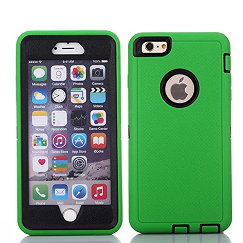 Crosstreesports iPhone 6 Case iPhone 6s Case Heavy Duty Shockproof Series Case for iPhone 6/6S (4.7')-V2 with Built-in Screen Protector Compatible with All US Carriers - Green and Black