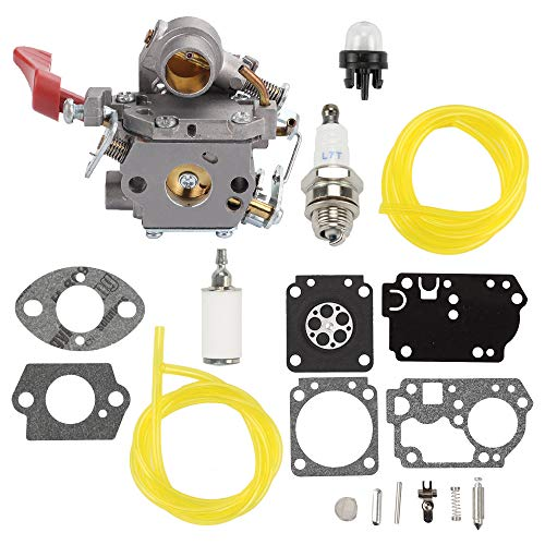 Trustsheer 545008042 545189502 Carburetor for Zama C1M-W44 Poulan Pro PP338PT PP033 PP133 PP333 Gas Trimmer 33cc Carb Craftsman 358791170 358791140 + Turn Up Kit RB-168 Repair Set