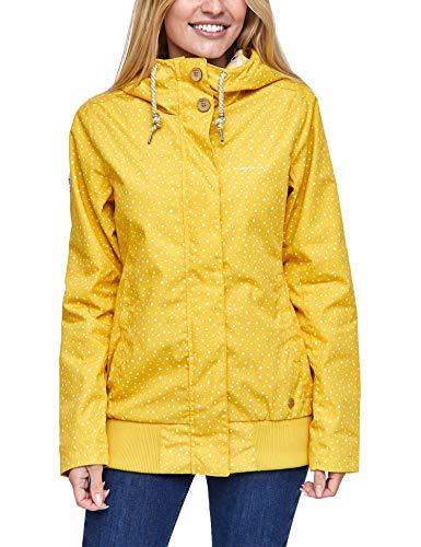 mazine - Damen - Jacke 'Chelsey Jacket' - Urban Streetwear Sommer Frühling - Yellow/Drops - M