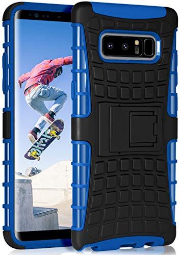 ONEFLOW Tank Hülle kompatibel mit Samsung Galaxy Note8 - Hülle Outdoor stoßfest, Handyhülle mit Ständer, Handy Hardcase Panzerhülle, Blau