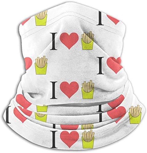 asdew987 I Love French Fries. Braga para el cuello, calentador de oídos, bufanda, máscara facial, bandanas